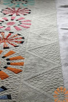 Piece N Quilt: Ferris Wheel Quilt - Custom Machine Quilting by Natalia Bonner