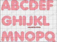 Cross Stitching, Cross Stitch Embroidery, Stitch Patterns, Knitting Patterns, Crochet Letters, Cross Stitch Letters, Alphabet Design, Cross Stitch Needles, Needlepoint Patterns
