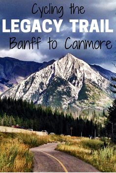 Cycling the Legacy Trail from Banff to Canmore in Alberta, Canada.