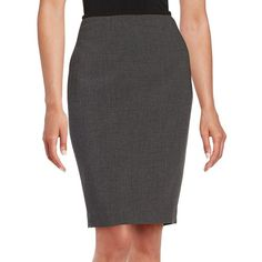 Calvin Klein Stretch Pencil Skirt ($55) ❤ liked on Polyvore featuring skirts, charcoal, long stretch skirt, stretch skirts, long stretchy skirts, pencil skirt and long pencil skirt
