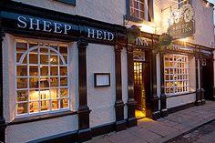 The Sheep Heid inn · 43-45 The Causeway · Oldest pub in Scotland. Est. 1360.