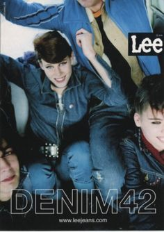 Go Card Advertising Postcard, Lee Jeans, Denim 42, 5497