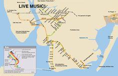 Hipster subway map.
