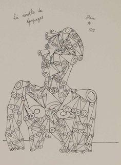 """Jean Cocteau (1889-1963), 1919, La révolte des équipages (The revolt of the crews),  From """"Opium: Journal d'une désintoxication""""."""