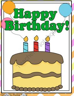 *FREEBIE* A birthday is more than just a day for a party. This pack gives a student another way to look at his or her special day.
