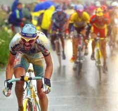 Il Pirata attacks on the Galibier to take the 98 Tour while Jan gets cold and wet and keeps on puncturing