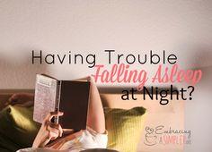having trouble falling asleep at night fb