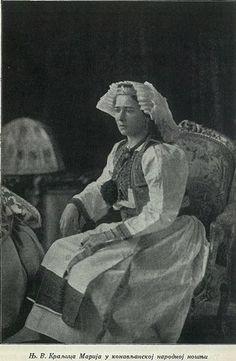 Queen Maria of Yugoslavia in folkloric dress