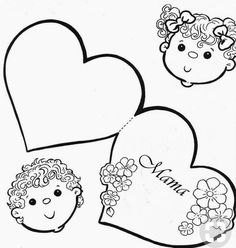 Lap Book Templates, Stencil Templates, Mother's Day Activities, Valentine Activities, Mothers Day Crafts For Kids, Mothers Love, Coloring Books, Coloring Pages, Horse Canvas Painting