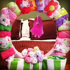 Baby Girl items wreath