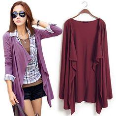 Korean Fashion Womens Ladies Autumn Casual Long Cardigan Outwear Top Coat Jacket | eBay