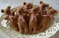 Tilda Teddy bear Christmas ornaments