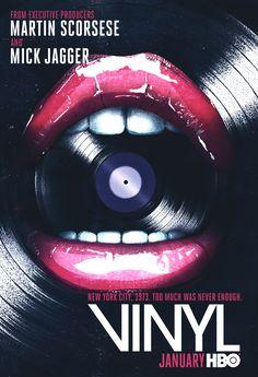 "Keyart for the upcoming HBO series ""VINYL"""