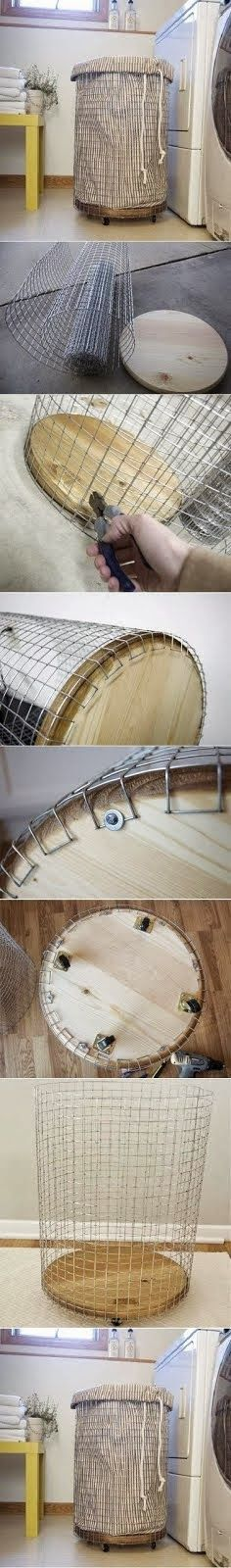 DIY : How To Make a Laundry Basket- A starting point for a new basket. Since my cats ADORE wicker. To shred.