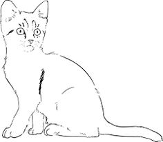 Free Image on Pixabay - Kitten, Cat, Drawing, Lineart Pictures Images, Free Pictures, Free Images, Cat Drawing, Drawing Sketches, Image Icon, Cat Silhouette, Drawing Techniques, Animal Drawings
