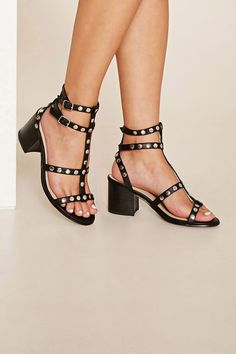 Studded Strappy Sandals   Forever 21 - 2000233683