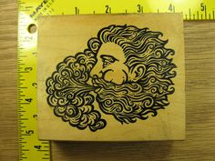 FACE OF MYTHICAL GOD MAN BLOWING STORM CLOUD BY JUDIKINS Rubber Stamp #3591