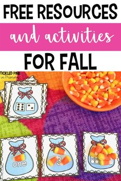 Free fall themed activities for your elementary classroom! These activities are perfect for preschool, kindergarten, and 1st grade. Included are reading, writing, and math activities that can be used for whole group, small group, centers, or even used as morning work. Preschool Themes, Preschool Kindergarten, Kindergarten Worksheets, Counting Activities, Autumn Activities, Early Learning, Fun Learning, Free Education, Morning Work