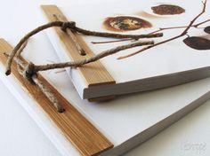 Handmade natural notebook