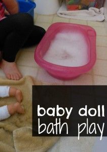 Pretend play... baby doll bath