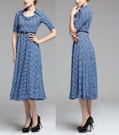 Spring summer chiffon long dress lady women clothing by jadeok, $97.00