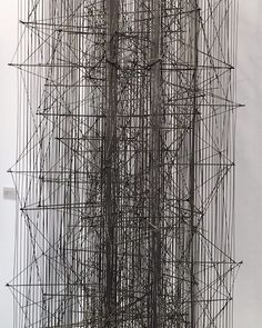 Detail... Leon Ferrari sculpture. Stainless steel rods welded together.1982.✨
