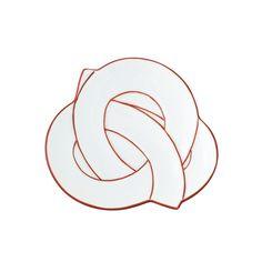 Mamezara Small Plate 11cm, Musubi Red - jpap.club - 1