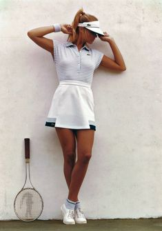 Golf Fashion Vintage From the Lacoste S. © All Rights Reserved. - From the Lacoste S. © All Rights Reserved. Tennis Wear, Sport Tennis, Tennis Dress, Tennis Skirts, Tennis Clothes, Nike Clothes, Book Modelo, Estilo Gossip Girl, Tennis Photography