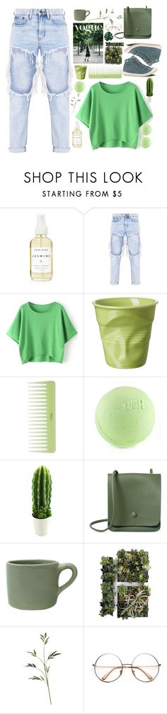 """""""Green Tee"""" by unicornonthecobb ❤ liked on Polyvore featuring A Weathered Penny, Revol, canvas, Palladium and unicornonthecobb"""