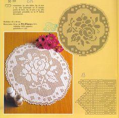 Kira scheme crochet: Scheme crochet no. Filet Crochet, Crochet Chart, Crochet Motif, Crochet Designs, Crochet Stitches, Doily Patterns, Crochet Patterns, Crochet Sunflower, Crochet Dollies