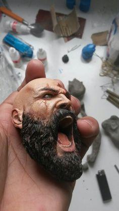Sculpture kratos scale 1/4, Elton Rodrigues Martins on ArtStation at https://www.artstation.com/artwork/D34OR