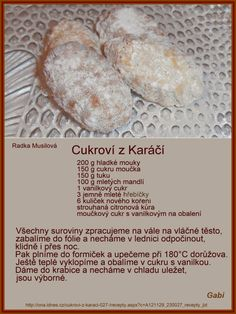Czech Recipes, Desert Recipes, Christmas Cookies, Ale, Food And Drink, Sweets, Cooking, Xmas Cookies, Kitchen