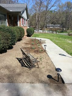 front flower bed in progress.