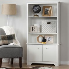 South Shore Vito 3-Shelf Bookcase with Doors   Overstock.com Shopping - The Best Deals on Office Storage & Organization