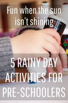 Rainy day activity ideas for preschool and primary age kids - A Mummy Too