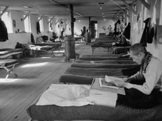 ansel adams photos of internment camps | People in Barracks at Japanese Internment Camp, Tule Lake, Ca Premium ...