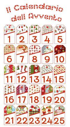 Il Calendario dell'Avvento da stampare ed appendere