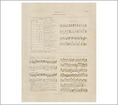 Music Sheet Thorough Plate 4 Framed Print #potterybarn