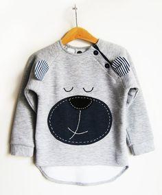 Misiek- ciepła dresowa bluza z naszytym misiem #blouse #clothing #teddy #kids #bear #children #fashion