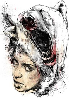 Illustration by Russ Mills. Part of 'Nata5' Triptych. http://www.byroglyphics.com/
