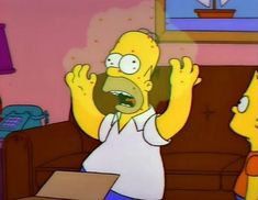 Did The Simpsons also predict coronavirus? The Simpsons, Simpsons Episodes, Homer Simpson, Comedy Central, Kent Brockman, Don Meme, Bts Memes, Funny Memes, Goat Cartoon