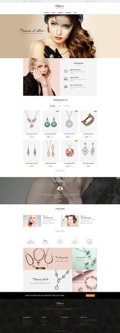 #Jewelry #Fashion #Beauty  #eCommerce #Modern - #Opencart Multi Purpose #Responsive #Theme