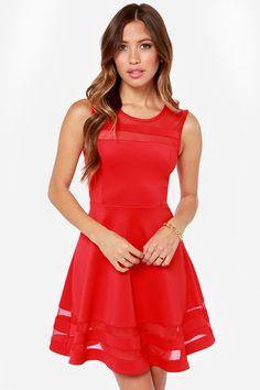 Final Stretch Red Dress at LuLus.com! $44