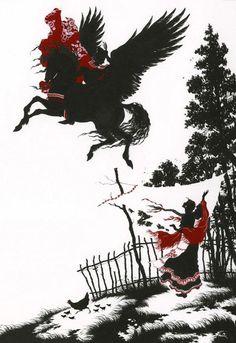 Иллюстрации к русским сказкам Niroot Puttapipat. Сивка-Бурка