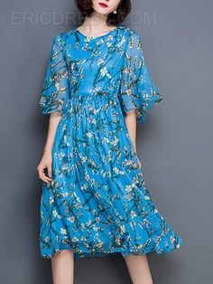Ericdress Elegant Print  Casual Dress Casual Dresses