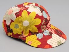 Big Crazy Floral Print Fitted Baseball Cap by HILL SIDE