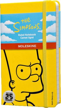 Moleskine The Simpsons Limited Edition Hard Yellow Ruled Pocket Notebook (9788867324255) | hive.co.uk
