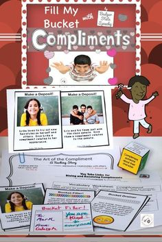 Help students learn how to give and receive compliments in this packet that includes a teaching story, you tube links/activities, game and more!  Use real photographs and graphics and content is for middle and high school students.
