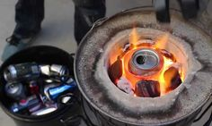 Survival DIY: How To Melt Aluminum Cans for Casting