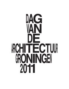 """Day of Architecture identity by Buro Reng. """"The design for the project style is based on three different logos using Helvetica. Our purpose was to create an illusion of space by gradually narrowing and transforming the Helvetica characters. This transformation — combined with the stacking of the characters — is a clear reference to architecture."""""""